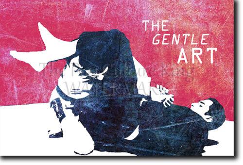 Jiu-Jitsu Motivacional Foto de 14 de Jiu-Jitsu brasileño motivación citar Cartel De La Suave de Arte