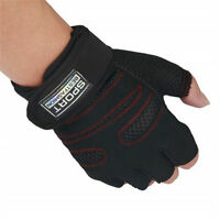 Fashion Black Sports Exercise Training Fitness Gym Gloves Long Wrist Wrap