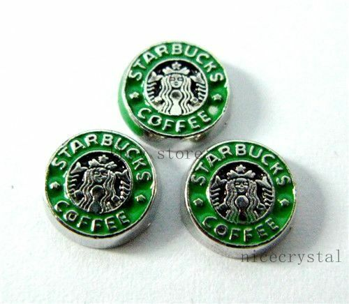 10pcs Coffee Floating charms For Glass living memory Locket Free shipping FC360