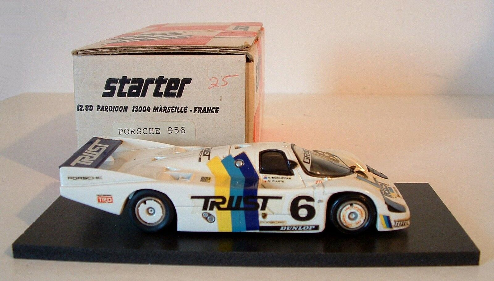 STARTER  PORSCHE 956 WSC Monte Fuji Fuji Fuji 1983  6 TRUST Schuppan DODGE modello c0017e