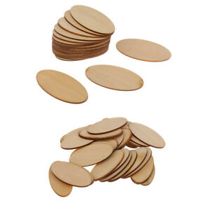 Wooden Oval Plain Unfinished Wood Craft