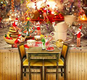 Sfondi Babbo Natale.3d Babbo Natale Parete Murale Foto Carta Da Parati Immagine Sfondo Muro Stampa Ebay