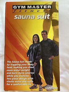 Sauna Suit Works 2 Piece Heavy Duty Vinyl Sauna Suit w/ Elastic Cuffs GET RIPPED