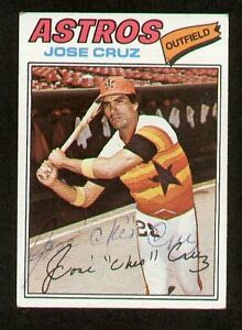 Jose-Cruz-42-signed-autograph-auto-1977-Topps-Baseball-Trading-Card