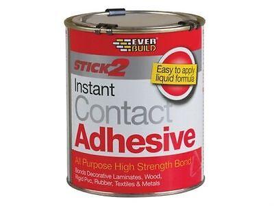 STICK 2 ALL PURPOSE CONTACT ADHESIVE EVERBUILD GLUE WOOD PLASTIC RUBBER 750ML