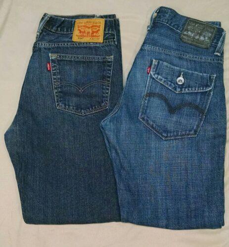 514 Jeans 32w Slim Levi's 32l Coupe Homme Paires De Jeans 2 Bleu Taille qWBSA1On
