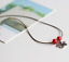 Silver Flower Bracelet Anklet Necklace Beads Red Daisy Ankle Jewellery Foot Boho