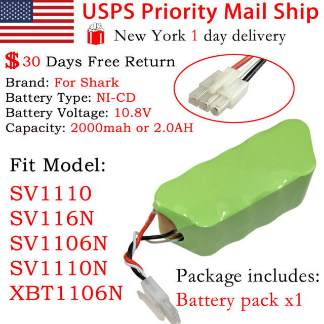 Replacement Battery For Shark Sweepers Freestyle Navigator Vacuums 6 Models
