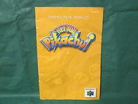 Hey You, Pikachu! Manual (Nintendo 64 N64) Manual Only