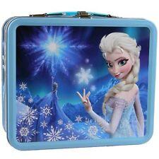 Disney Frozen Queen Elsa Blue Metal Lunch Box