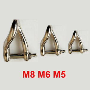 Boating accessory 10mm Twisted Dee Shackle 316 stainless steel Shade sail