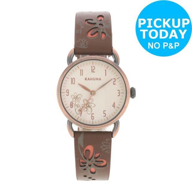 Kahuna Ladies' Strap Watch and Bracelet Set Easy Read Analogue