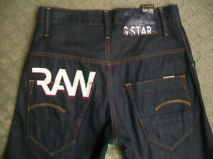 NEW-MENS-G-STAR-3301-ARC-LOOSE-TAPERED-JEANS-SIZE-28