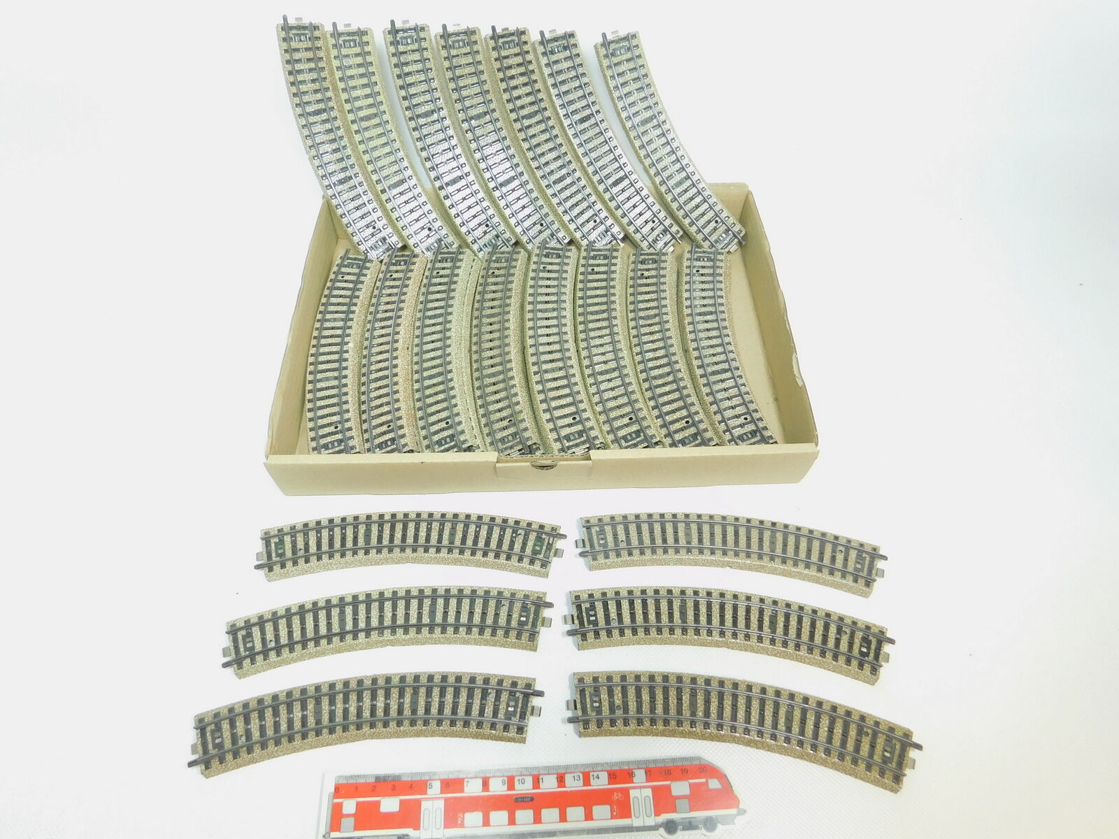 Bl798-2  40x Märklin h0 ac molto 5100 pezzo di binario ferrovia piegate M-Binario molto ac bene 623320