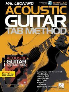 100% De Qualité Hal Leonard Acoustic Guitar Tab Method Combo Edition-livres 1 Et 2 000289016-afficher Le Titre D'origine Marchandises De Haute Qualité
