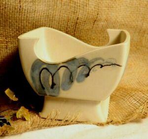 Vintage Artistic Glazed Design Pottery Planter or Bowl