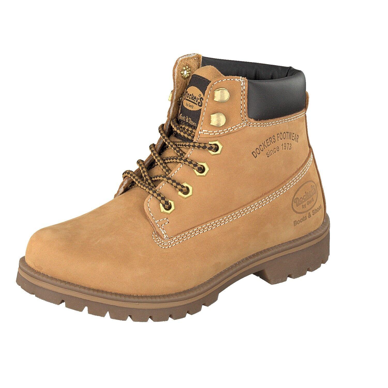 Dockers by Gerli 35AA203 910 Golden Damen Schuhe Stiefel 300 Nubukleder Stiefel