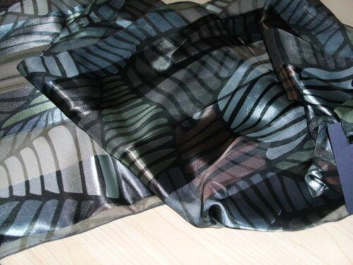 BNWT-Fabulous-Light Weight-Geometric Design Satin//Chiffon Scarves-155cm x 35cm .