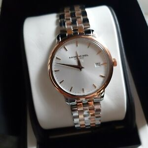 Raymond weil  toccata two tone rose gold watch