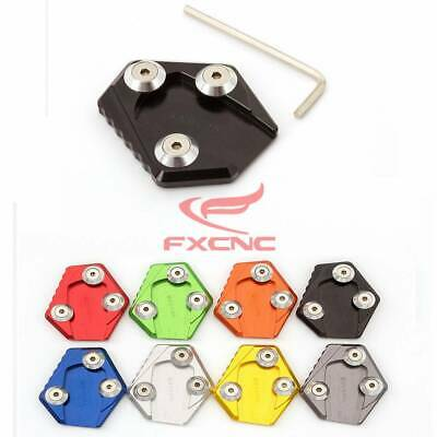 1x CNC Enlarge Kickstand Side Stand Extension Plate Pad For Honda MSX Grom 125