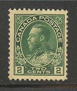 Canada #107, 1922 2c King George V - Admiral Issue, Unused Light Hinge