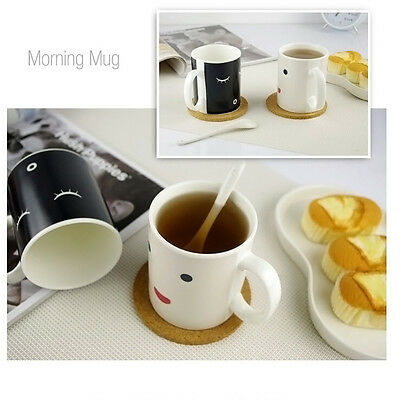 Magic Morning Mug Heat Sensitive Color Change Coffee Milk Mug Cup Gift Hot Tea