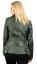 Jacket Long Green Biker 100 Vintage Ladies Feminine Leather xgFwU