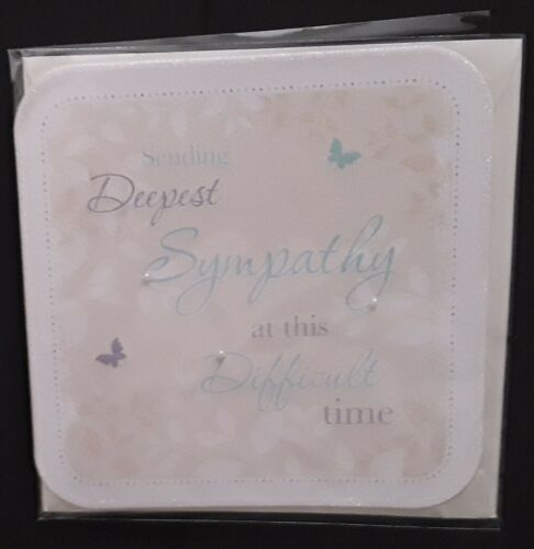 """/""""SENDING DEEPEST SYMPATHY AT THIS DIFFICULT TIME/"""" GREETINGS CARD"""