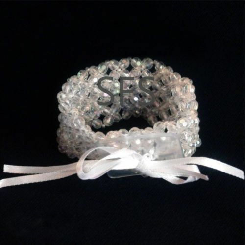 Iridescent Pearl Flower Bracelet Weddings Wrist Corsages /& Proms Floristry