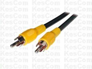 cinch kabel 15m chinch rca 1x stecker auf 1x stecker video ebay. Black Bedroom Furniture Sets. Home Design Ideas