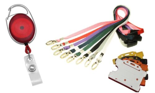 Red Premier Retractable YoYo Reel with Breakaway Lanyard and ID Badge Holder