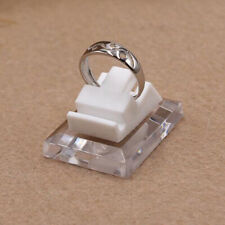 1xsolid Acrylic Plastic Ring Display Stand With Base Rings Jewelry Display Dechg