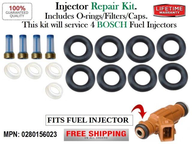 EV1 Upgrade Fuel Injectors Set 4 0280156023 for Saab 9-5 9-3 2.0L 2.3L