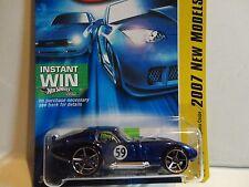 2007 Hot Wheels #6 Blue Shelby Cobra Daytona Coupe w/OH5 Spoke Wheels
