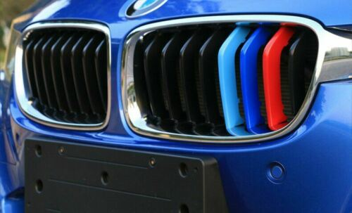 M Color Front Kidney Grille Rails Trim Cover for BMW F30 F31 320 328 335 2012-up