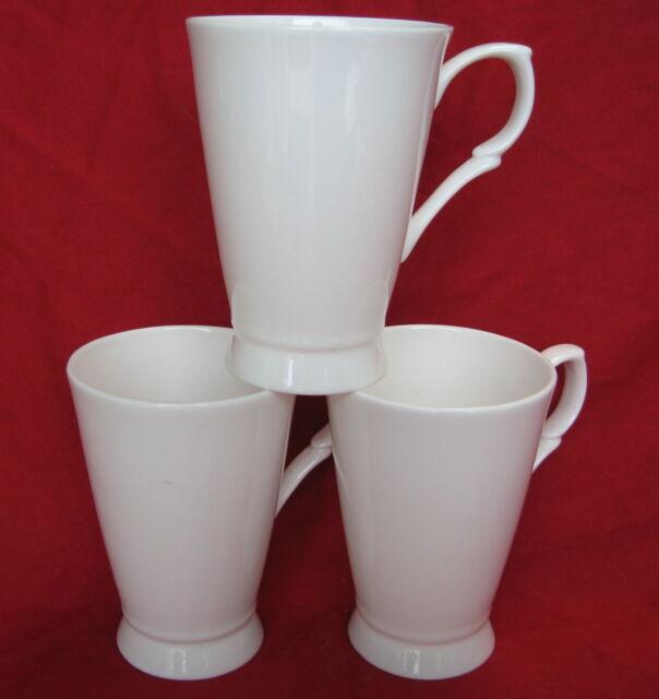 Set Of 6 White Hanbury Shape Fine Bone China Mug Cups