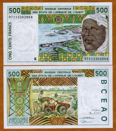West African States P-710K 500 Francs 1997 Senegal UNC