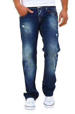 Schietto Jeans Uomo Pantaloni Denim Republic B322 Blu Gamba Dritta Tg 31 32 33