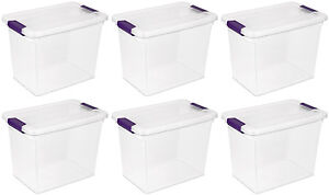 6-Pack-Sterilite-17631706-27-Quart-ClearView-Latch-Box-Storage-Tote-Container
