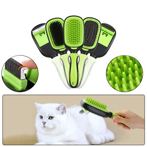 5in1 Pet Brush Set Grooming Shedding Massage Combs for Long Short Hair Dog Cat