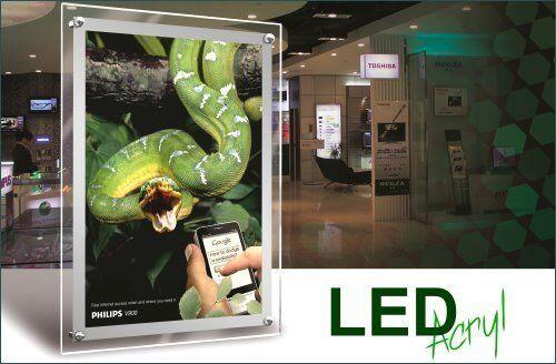 Acrylique Acrylique Acrylique LED leuchtrahmen 31a36a