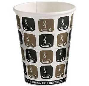 100 X 16oz Café Moka Papier Tasse De Café Thé Jetables Boissons Chaudes Paroi Simple-afficher Le Titre D'origine Un Style Actuel
