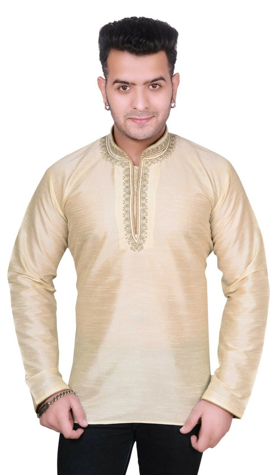 Herren Shorts Kurta Hemd Indisch Bollywood Thema Hochzeit Party Party Party Tunika Outfit   Wir haben von unseren Kunden Lob erhalten.  c2a20a