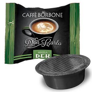 100 Capsule Caffè Borbone Don Carlo Decaffeinato Dek Deca compatibile a Modo Mio