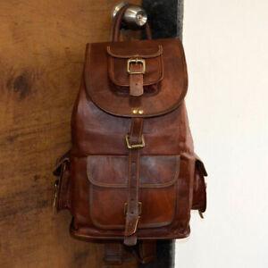 New Genuine Leather Backpack Rucksack Travel Bag For Men/'s and Women/'s