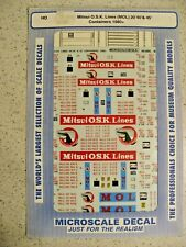 HO 1:87 Microscale MS-748 NOL 20-40/' Corrugated Container  Decals 1982+