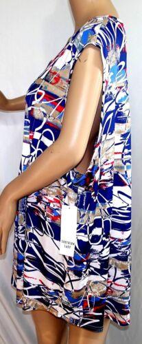 Southern Lady Women Plus Size 2x 3x Red White Blue Tank Swing Tank Top Blouse