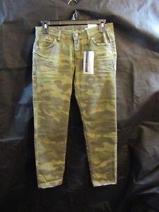9525e17a Image is loading ZARA-WOMAN-Premium-Denim-Collection-Camouflage-Jeans-Sz-