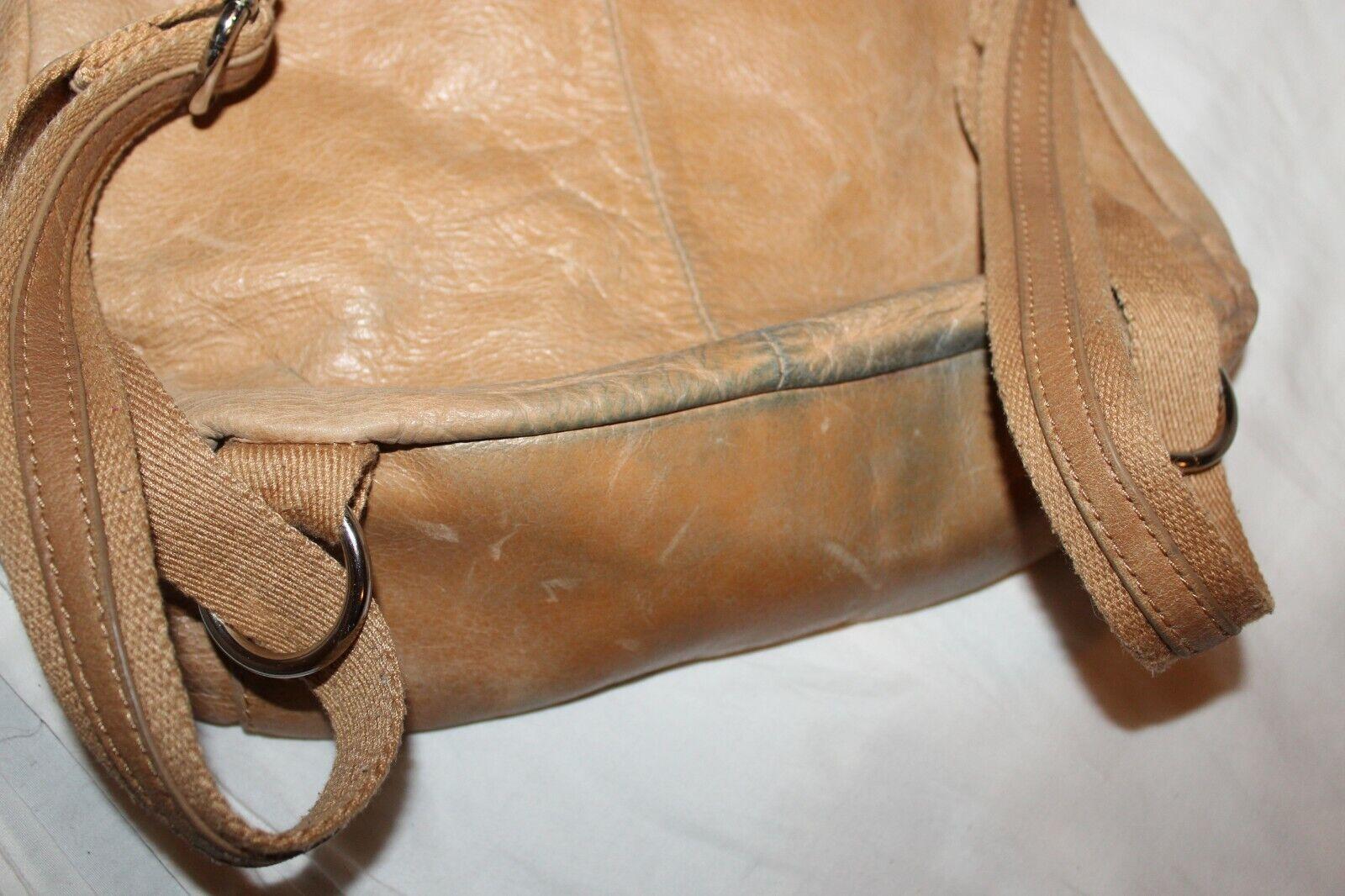 The Sak Brown Leather Backpack Bag Handbag Purse Satchel Hobo 10x13