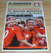 Programm Bayer Leverkusen - FC Bayern München 24.06.2007 - A-Jugend-Finale